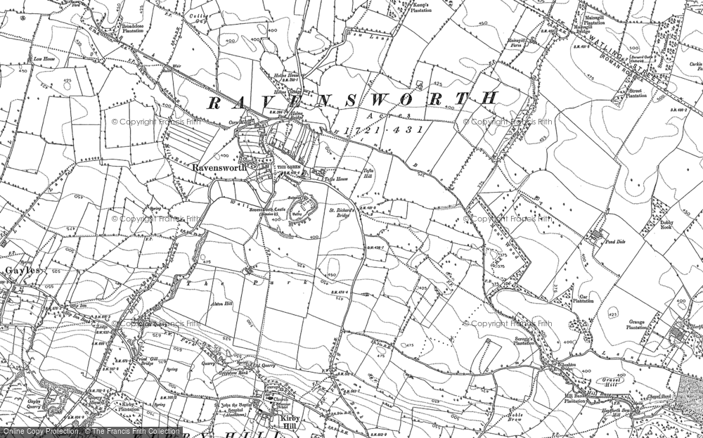 Old Map of Historic Map covering Tofta Ho in 1892