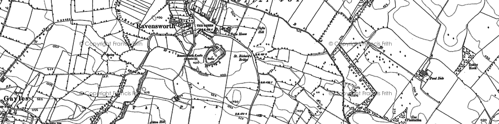 Old map of Ravensworth in 1892