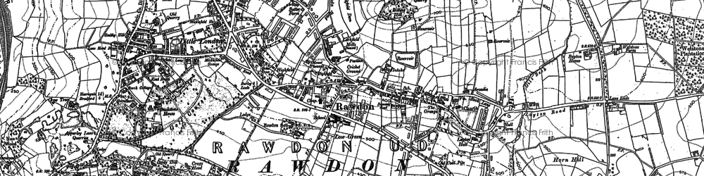 Old map of Larkfield in 1891