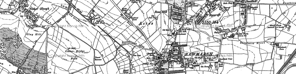Old map of Rawmarsh in 1890