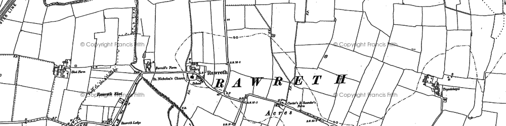 Old map of Shotgate in 1895