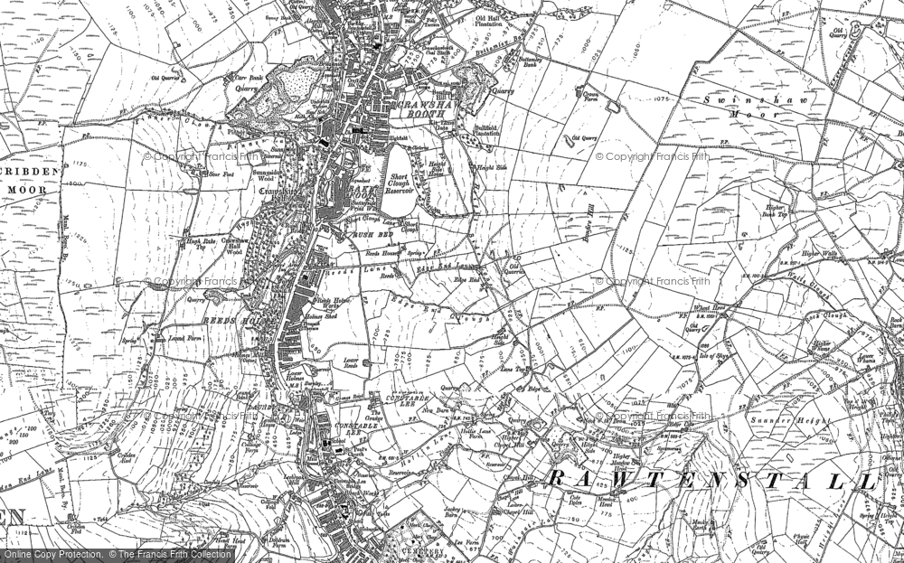 Old Map of Historic Map covering Laund in 1891