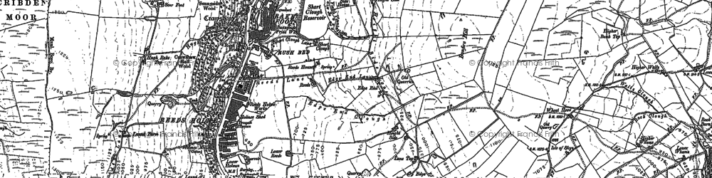 Old map of Laund in 1891