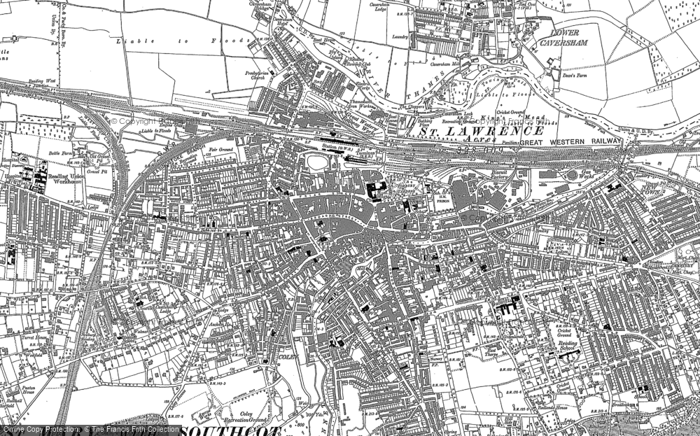 Map Of Reading Old Maps of Reading   Francis Frith Map Of Reading