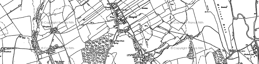 Old map of Wyebourne in 1897