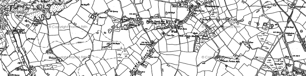 Old map of Reawla in 1877