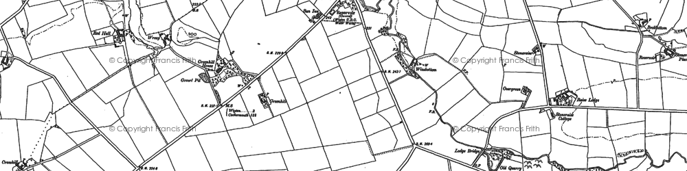 Old map of Wreay, The in 1899