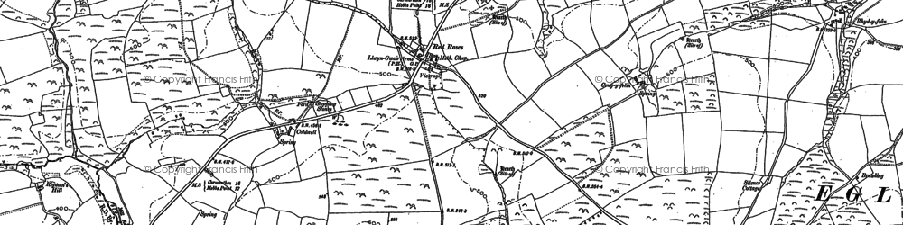 Old map of West Rose in 1905