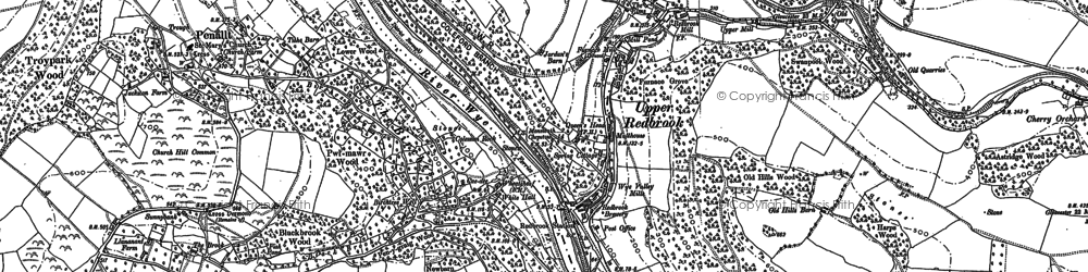 Old map of Redbrook in 1900