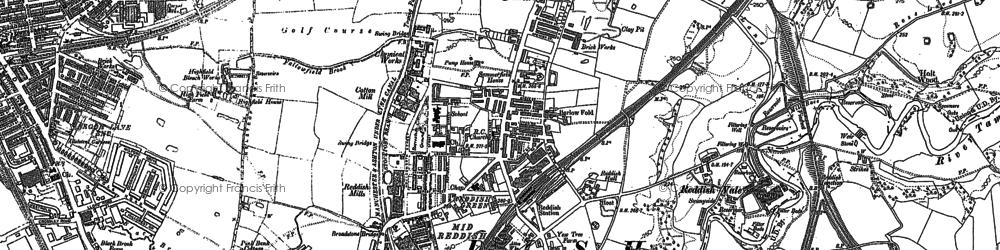 Old map of Reddish in 1890