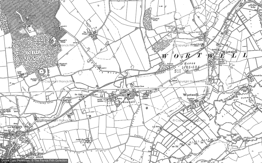 Old Map of Historic Map covering Abbey Yard in 1903