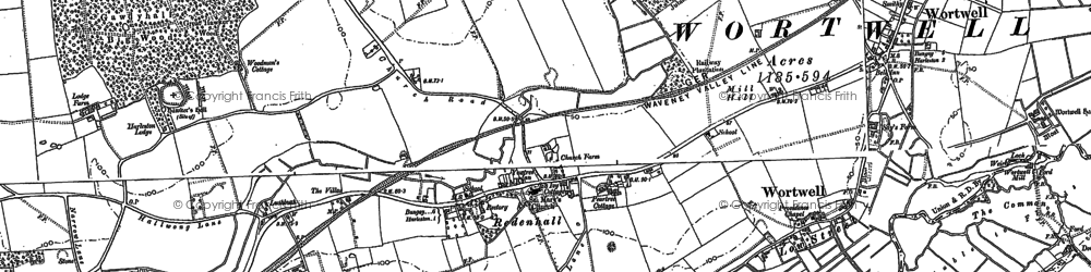 Old map of Abbey Yard in 1903