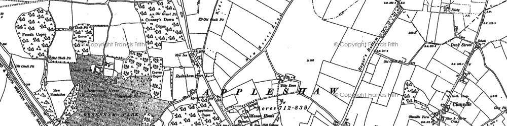 Old map of Tilly Down in 1909