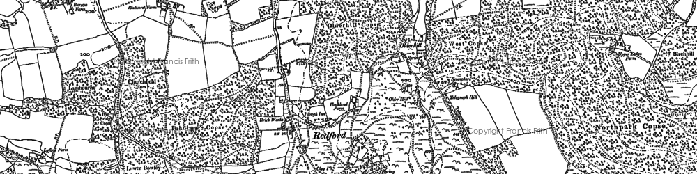 Old map of Woolbeding Common in 1895
