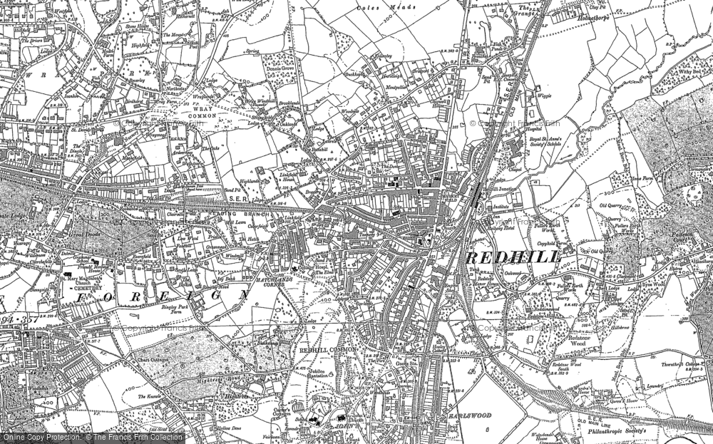 Old Map of Historic Map covering Wray Common in 1895
