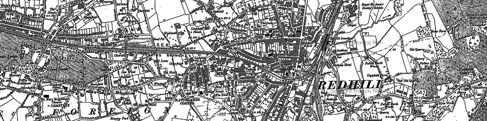 Old map of Coles Meads in 1895