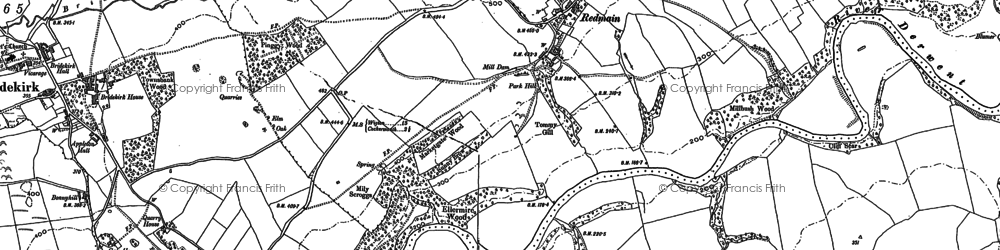 Old map of Williamsgate in 1899