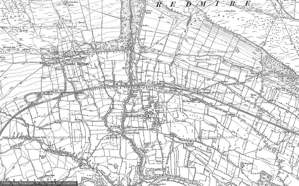 Old Map of Historic Map covering Wood End in 1891