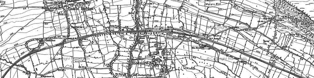 Old map of Redmire in 1891