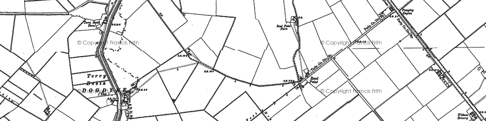 Old map of Witham Brewery in 1887