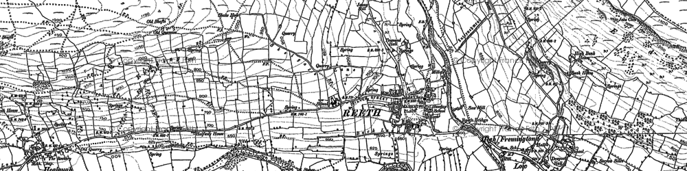 Old map of Swaledale in 1891