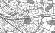 Old Map of Reeves Green, 1886 - 1887