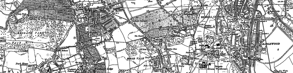 Old map of Reigate in 1895