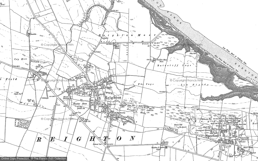 Old Map of Reighton, 1888 - 1909 in 1888