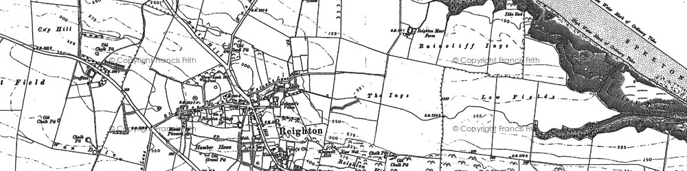 Old map of Reighton in 1888