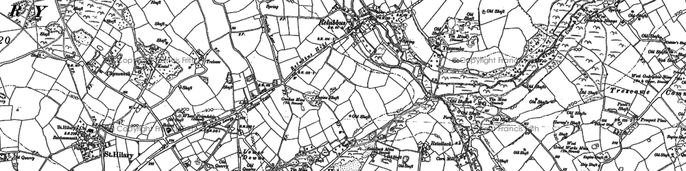 Old map of Halamanning in 1877