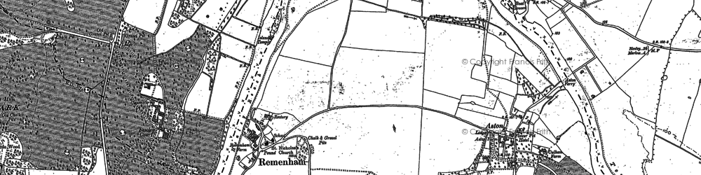 Old map of Remenham in 1910