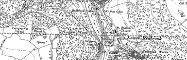 Old map of Blythswood centred on your home