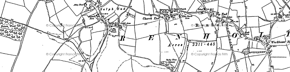 Old map of Workhouse End in 1882
