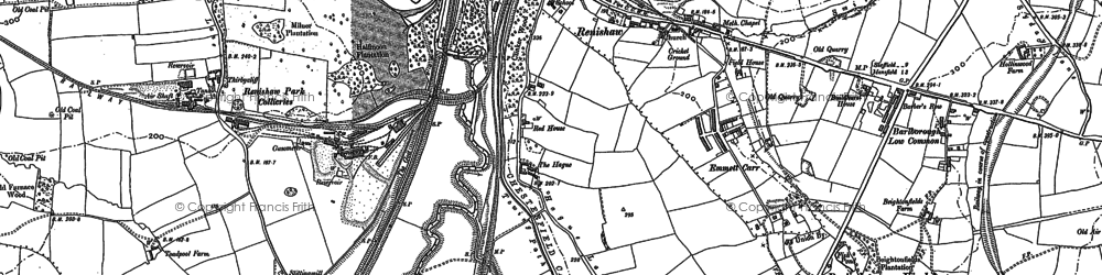 Old map of Renishaw in 1876