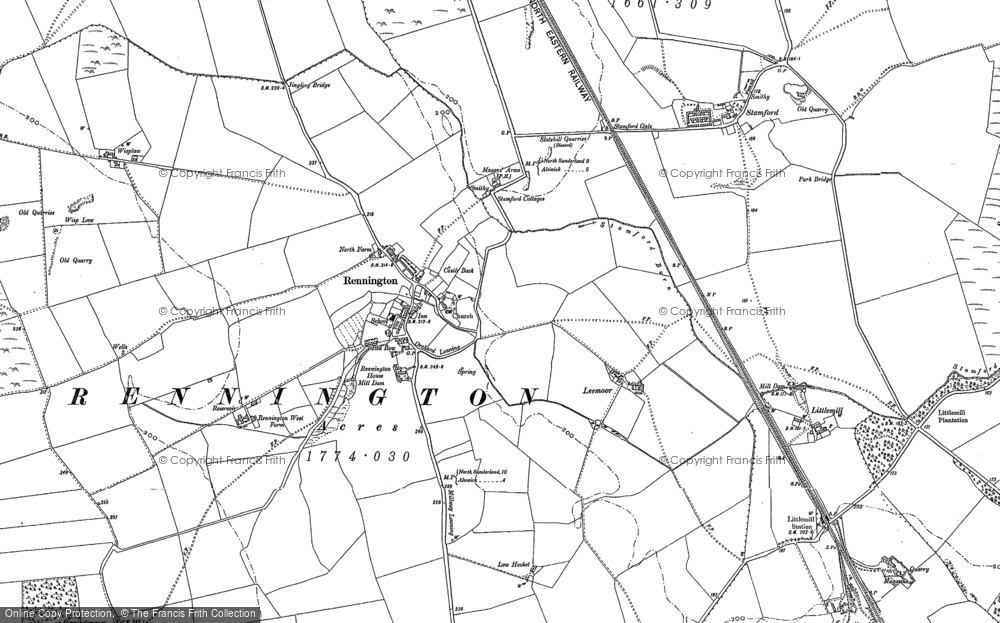 Old Map of Historic Map covering Lee Moor in 1896