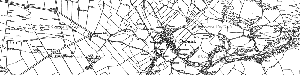 Old map of Todbank in 1898