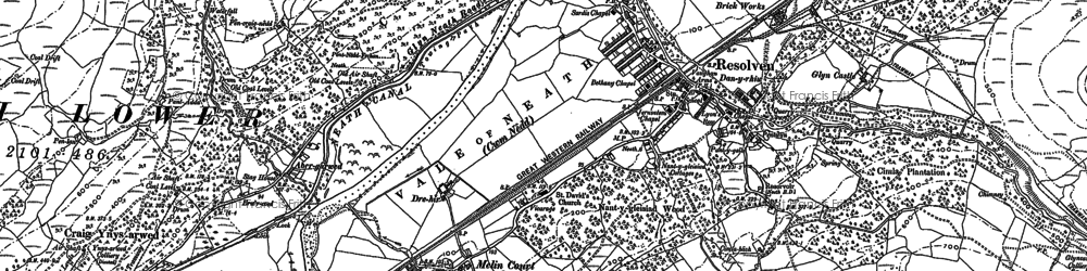 Old map of Resolven in 1897