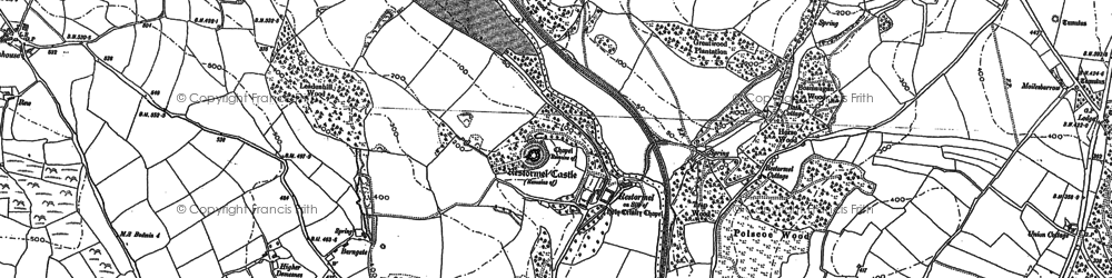 Old map of Restormel in 1881