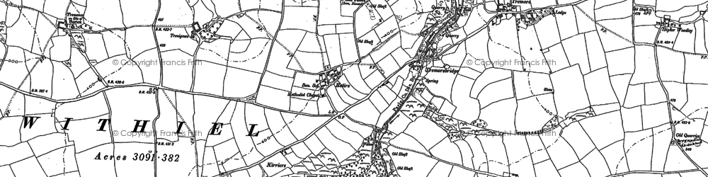 Old map of Retire in 1880