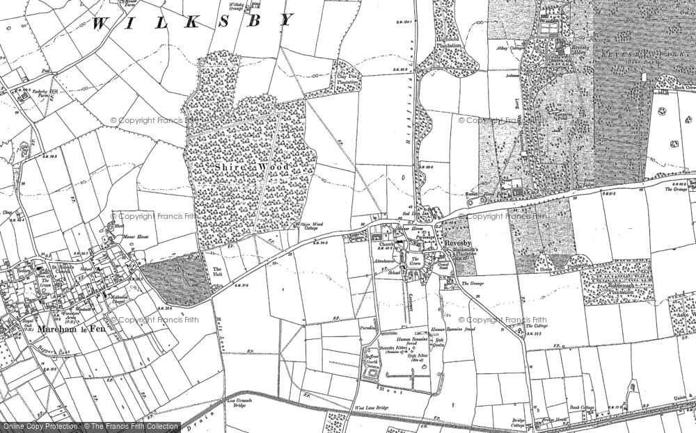 Old Map of Revesby, 1887 in 1887