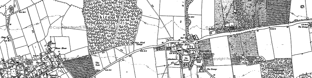 Old map of Revesby in 1887