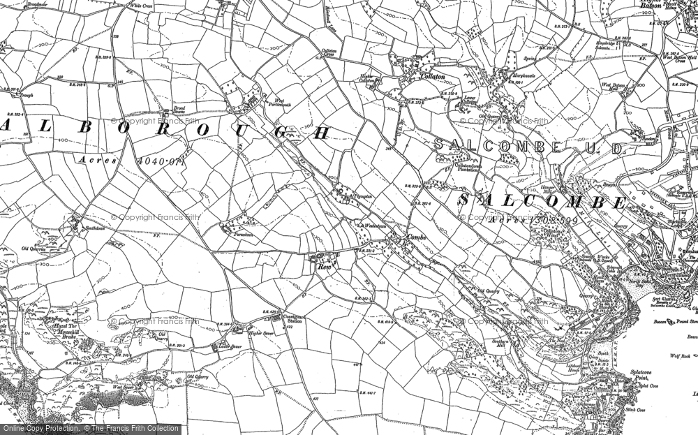 Old Map of Historic Map covering Lantern Rock in 1905