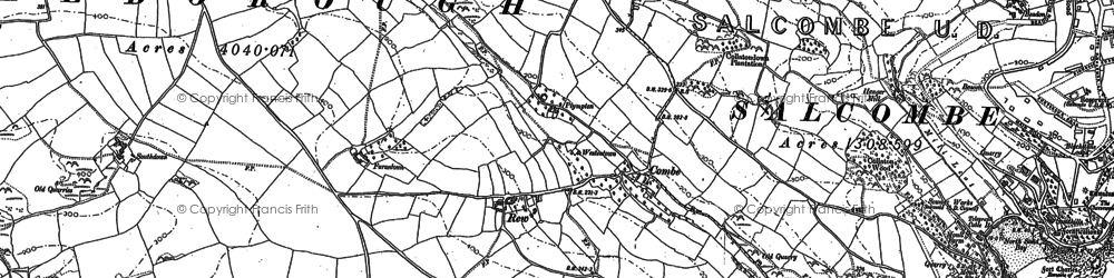 Old map of Lantern Rock in 1905