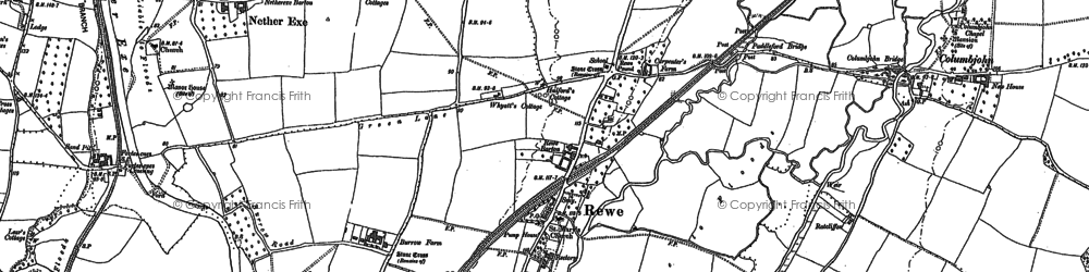 Old map of Yellowford in 1888