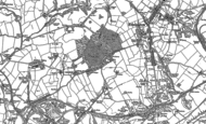 Old Map of Rheda, 1898 - 1923