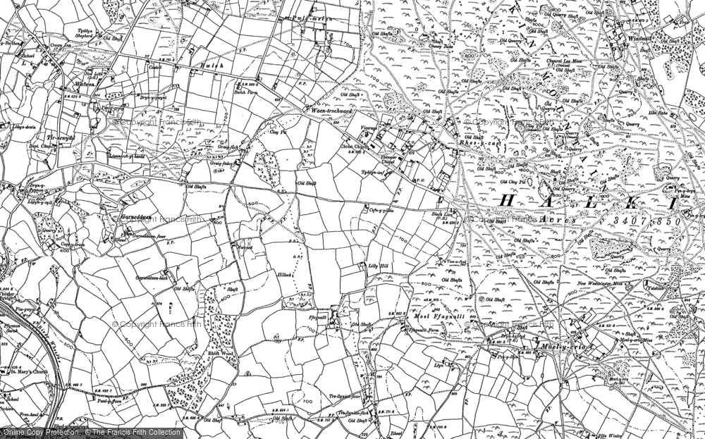 Old Map of Historic Map covering Windmill in 1898