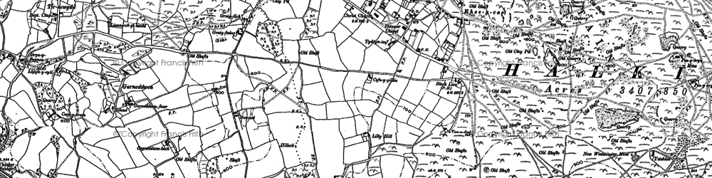 Old map of Windmill in 1898