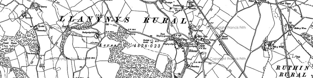 Old map of Bachymbyd Fawr in 1899