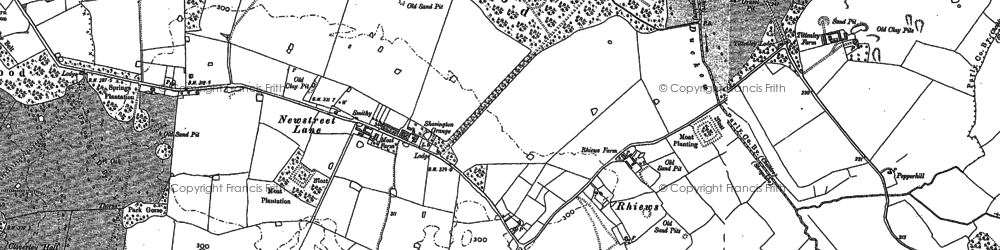 Old map of Adderley Lodge in 1879