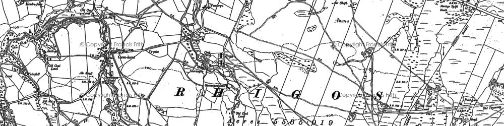 Old map of Craig y Llyn in 1903